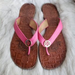 Tory Burch Pink Fuschia Thora Thong Sandal 10